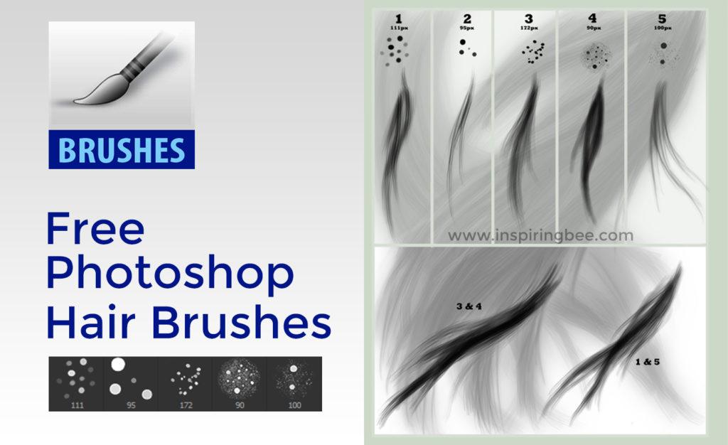 Free Photoshop Hair Brush set by Para Vine • Inspiring Bee