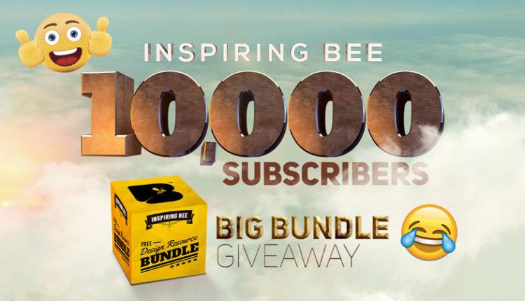 Inspiring Bee 10,000 Subscribers Big Bundle Giveaway – Graphic's Pack