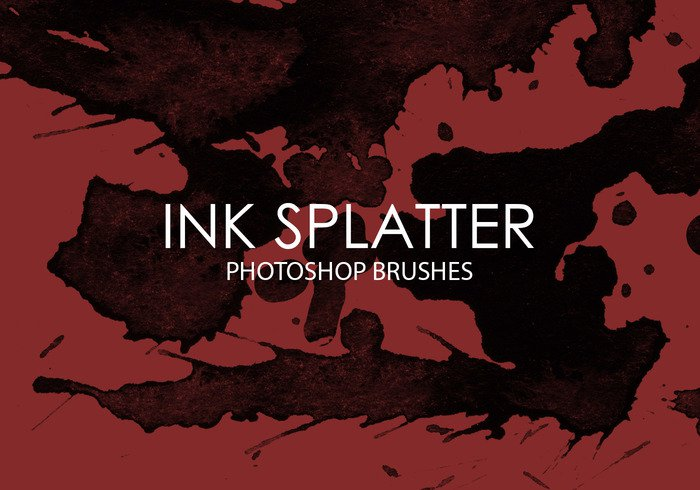High-Res Photoshop Ink Splatter Brushes Free Download