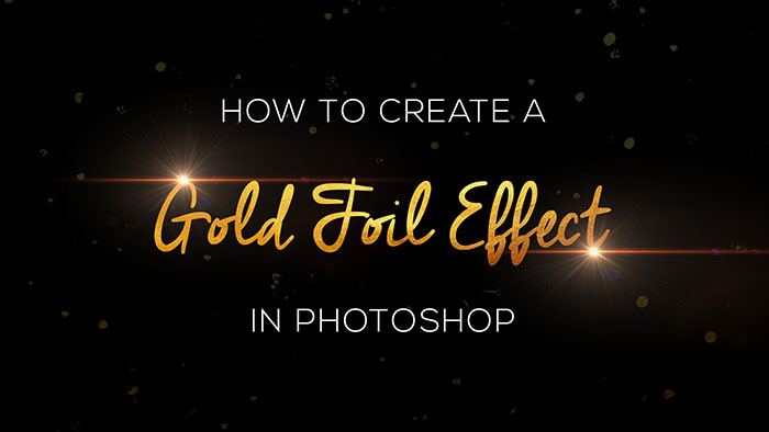 How to Create Gold Foil Text Effect in Adobe Photoshop CC