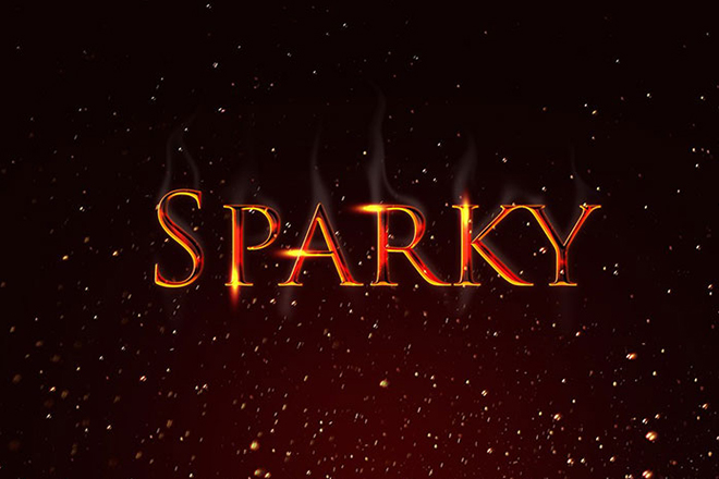 Free Sparky Text Effect PSD Download • Inspiring Bee