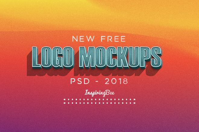 New Free Logo Mockups PSD - InspiringBee • Inspiring Bee
