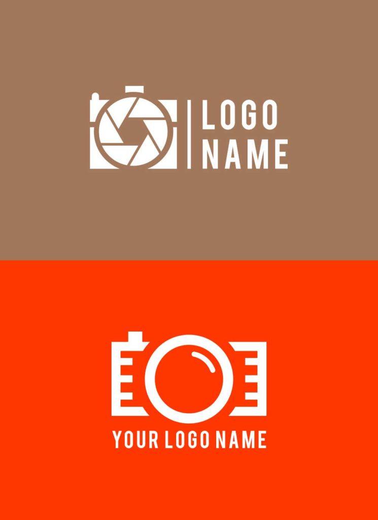 Free 2 Photography Logo Design Psd Template Inspiring Bee